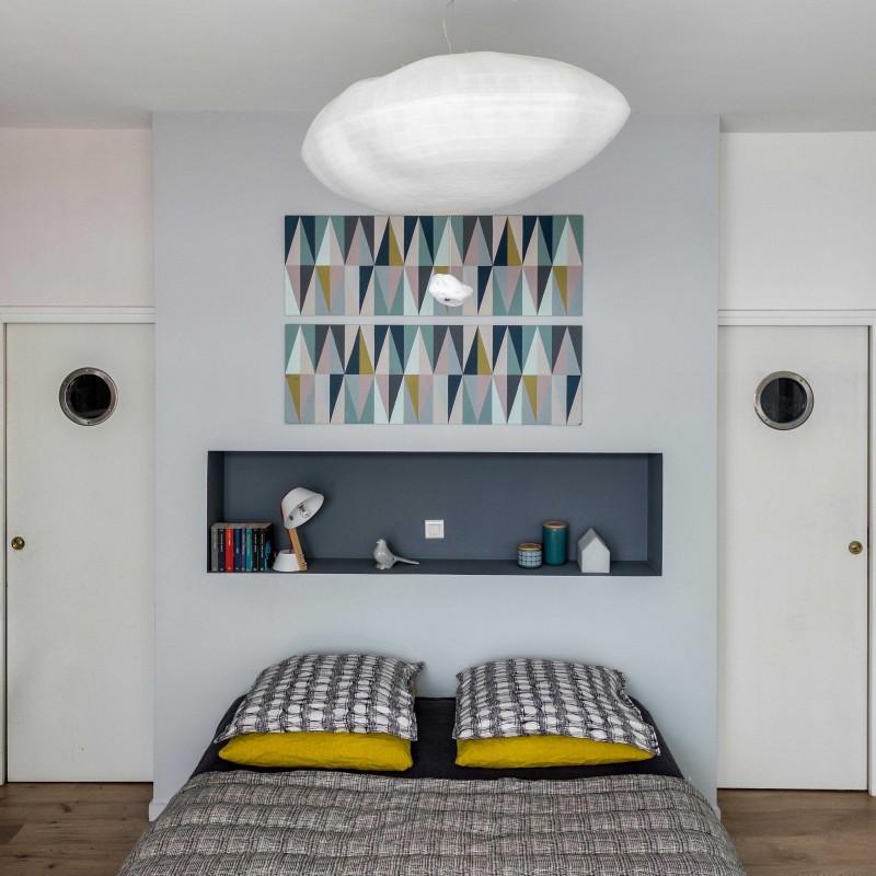 rénovation - loft poétique - paris - gris - suite parentale- MursetMerveilles