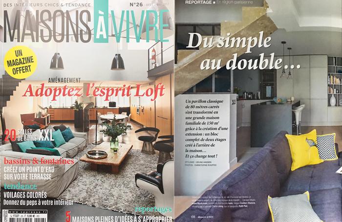 double page Maisons à vivre