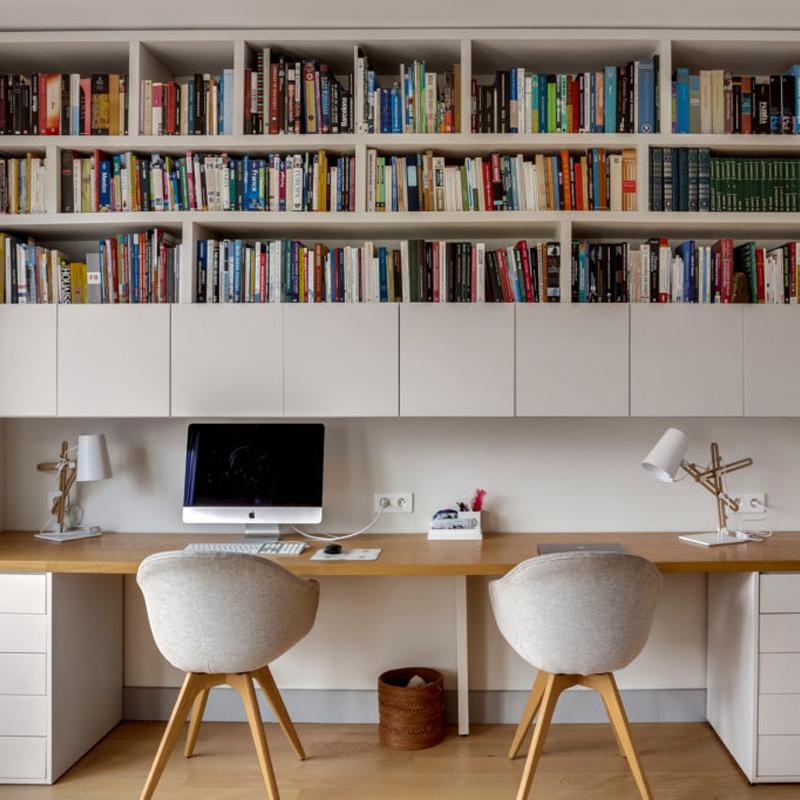 vue du bureau bibliothèque à Neuilly Bois