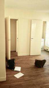 avant travaux rénovation salon, appartement rue cherche midi paris, murs et merveilles