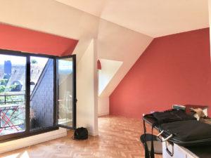 Avant travaux rénovation, séjour salon appartement Versailles