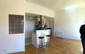 Avant travaux rénovation cuisine, entrée appartement Versailles