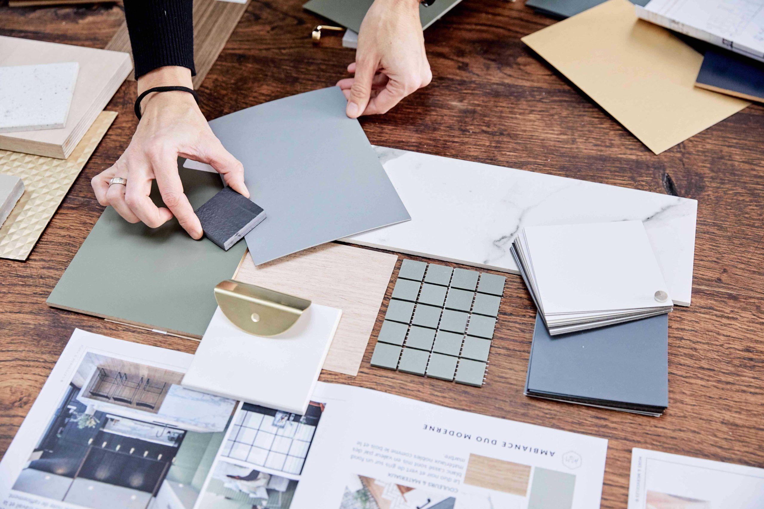 planches d ambiance et échantillons couleurs et matériaux