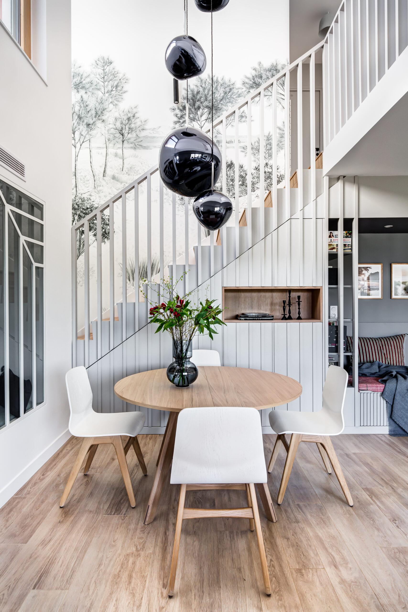 Rénovation - séjour salon - verrière- blanc - architecte d'intérieur
